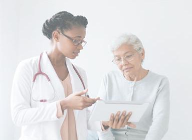 Nurse helping a nursing home resident