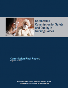 "Download ""Coronavirus Commission for Safety and Quality in Nusing Homes"" final report."